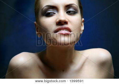 Portrait Of Beauty. Sexy Sweet Girl.
