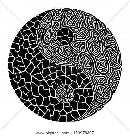 A yin yang image in an abstract form