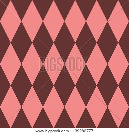 Pink and brown tile vector pattern or decoration background wallpaper