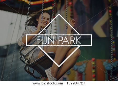 Fun Park Fair Amusement Happiness Pleasure Activities Concept