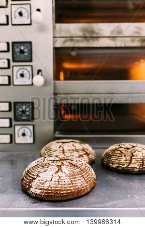 Bread freshly made. Out of a hot oven.