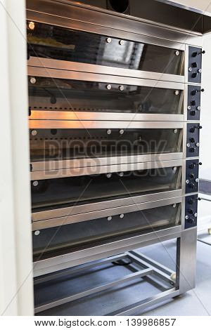 Multi level bakery oven in food factory