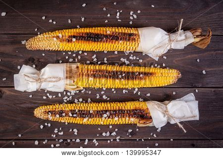 Organic Grilled Corn on the Cob Ready to Eat