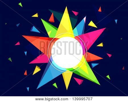 Creative abstract background with colorful geometric elements, Futuristic technology style background for your text.