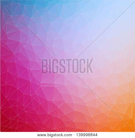 Colorful Abstract 2D geometric background for your design