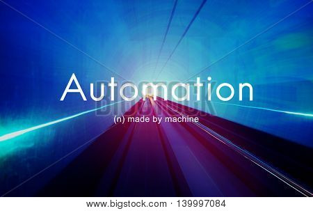 Automation Machine Technology Invention Innovation Concept poster