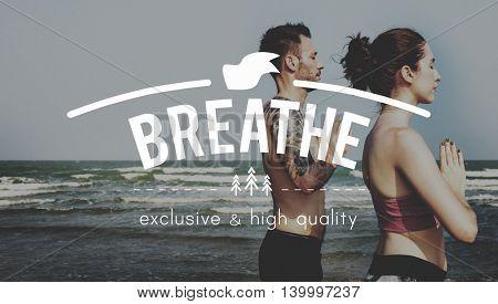 Breathe Calm Inspirational Meditation Peace Relax Concept