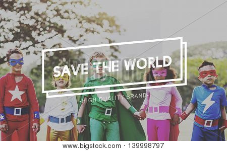 Save the World Environmental Conservation Ecology Concept