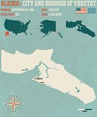 Large and detailed infographic of the City and Borough of Yakutat in Alaska poster