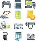 Vector detailed computer parts icon set. Part 5 of 5 poster