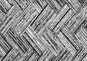 Distressed overlay wooden parquet texture grunge vector background. poster