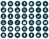 New collection of different icons for using in web design poster