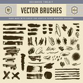 large collection of grunge vector brush strokes and textures - pencil scribbles, marker lines, charcoal, ink, chalk and acrylic paint poster