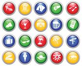 Travel set of different  web icons poster
