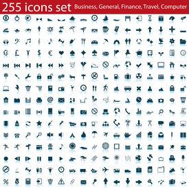 Plus grande collection d'icônes différentes pour l'utilisation dans la conception web