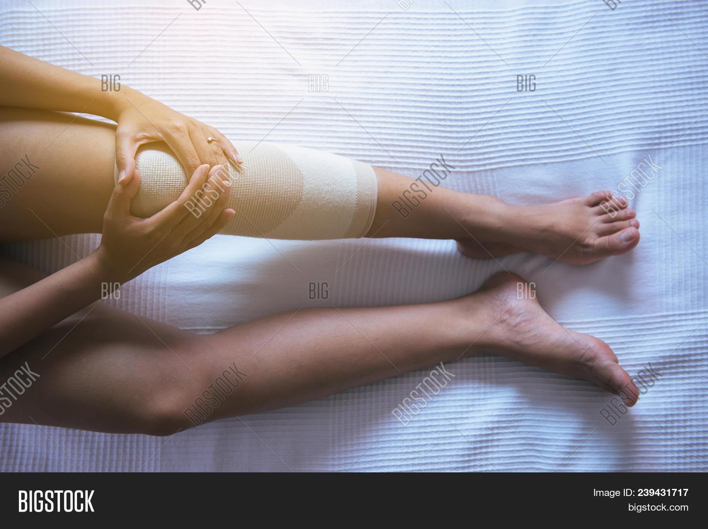 Woman Using Elastic Image Photo Free Trial Bigstock