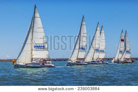 The Marine Regatta Is An Exciting Sport. The Sea, Wind, Breeze And Fresh Sea Air - Increases The Pos