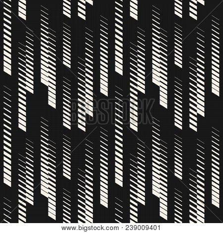 Abstract Geometric Seamless Pattern With Vertical Halftone Lines, Tracks, Stripes. Extreme Sport Sty