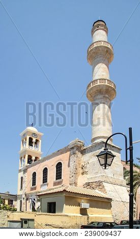 Church Of St. Nicholas. The City Of Chania. Crete