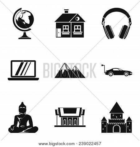 Culture Nation Icons Set. Simple Set Of 9 Culture Nation Vector Icons For Web Isolated On White Back