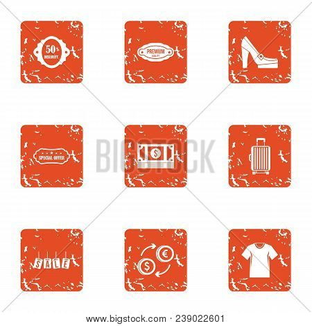 Cash Nexus Icons Set. Grunge Set Of 9 Cash Nexus Vector Icons For Web Isolated On White Background
