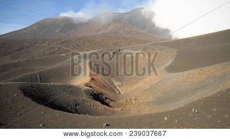 summit craters of Etna Volcano, Sicily