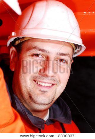Portrait Of A Heavy Machinery Operator