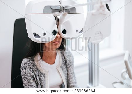 Patient In Ophthalmology Clinic
