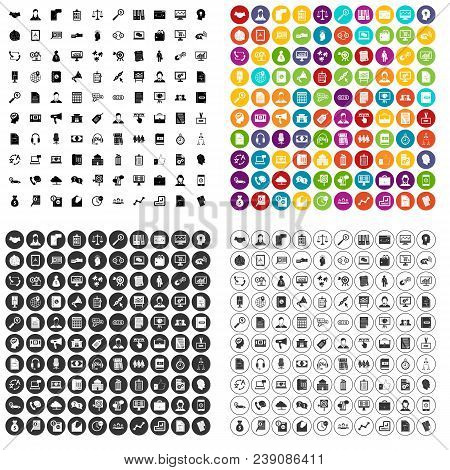100 Business Operation Icons Set Vector In 4 Variant For Any Web Design Isolated On White