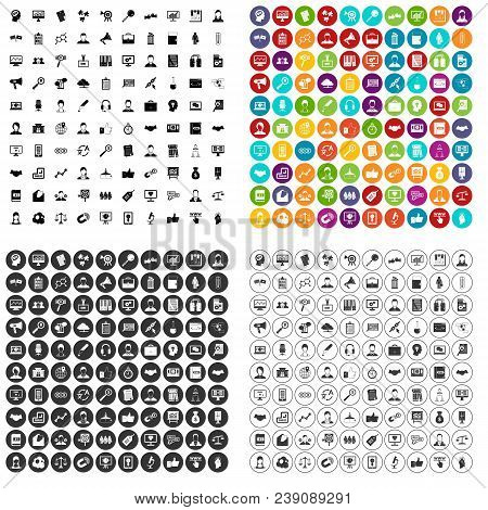 100 Business Person Icons Set Vector In 4 Variant For Any Web Design Isolated On White
