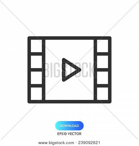 Video Play Icon Isolated On White Background. Video Play Icon Modern Symbol For Graphic And Web Desi