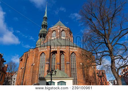The St. John's Church And Spire Of Cathedral Of St. Peter, Riga, Latvia