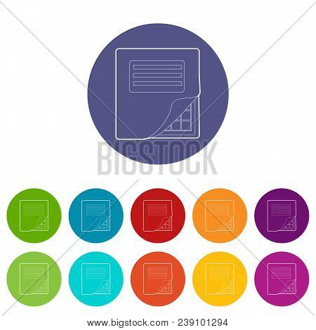 Folder With Table Excel Icon. Outline Illustration Of Folder With Table Excel Vector Icon For Web De