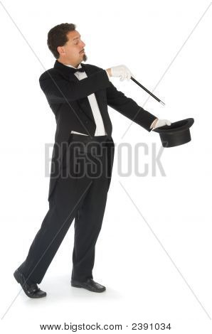Magician On White Background