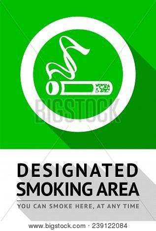 Smoking Area New Poster, Vector Illustration For Print