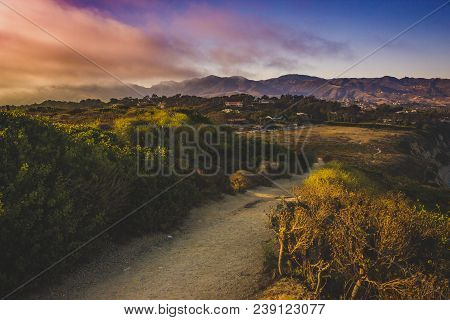 Colorful View Of Southern California Coast From Point Dume, Malibu During Sunset