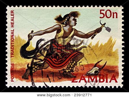 ZAMBIA-CIRCA 1981:A stamp printed in Zambia shows image of