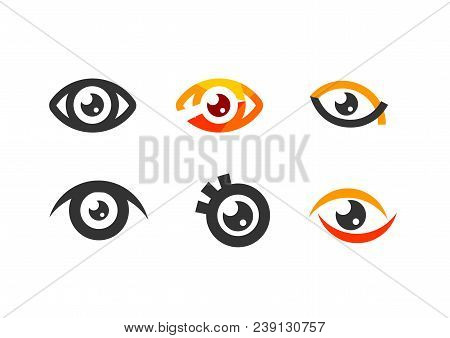 Eye Icon, Eye Symbol. Flat Eye Sign Vector