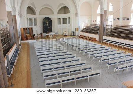 St. Petersburg, Russia - April 9, 2018: Interior Of Lutheran Church Of St. Peter And Paul. Indoor Vi