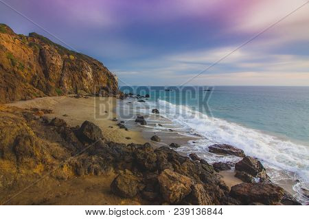 Secluded Pirate's Cove Beach At Sunset