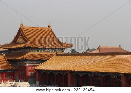 An Area Of Beijing, China, That Contains The Former The Forbidden City.an  Imperial Palaces, To Whic
