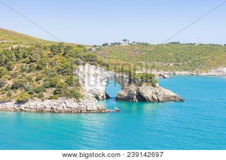 Apulia, Italy, Europe - Cliff Breakthrough At Grotta Della Campana Piccola