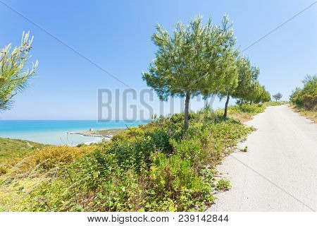 Lido Cala Lunga, Apulia, Italy - Hiking Trail To The Beach Of Cala Lunga