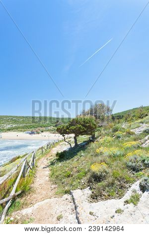 Lido Cala Lunga, Apulia, Italy - Beautiful Landscape Around The Beach Of Cala Lunga