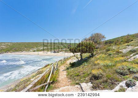 Lido Cala Lunga, Apulia, Italy - Impressive Landscape Around The Beach Of Cala Lunga