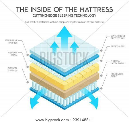 Quality Mattress Materials Variety For Comfort And Durability Cutting Edge Technology Inner Layers 3