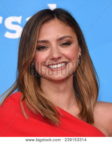 LOS ANGELES - MAY 02:  Christine Evangelista arrives for the NBCUniversal Summer Press Day 2018 on May 2, 2018 in Universal City, CA