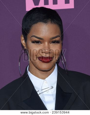LOS ANGELES - MAY 03:  Teyana Taylor arrives for the VH1's 3rd Annual 'Dear Mama: A Love Letter to Moms' on May 3, 2018 in Los Angeles, CA