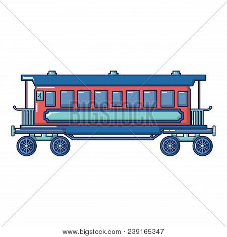 Retro Passenger Wagon Icon. Cartoon Of Retro Passenger Wagon Vector Icon For Web Design Isolated On