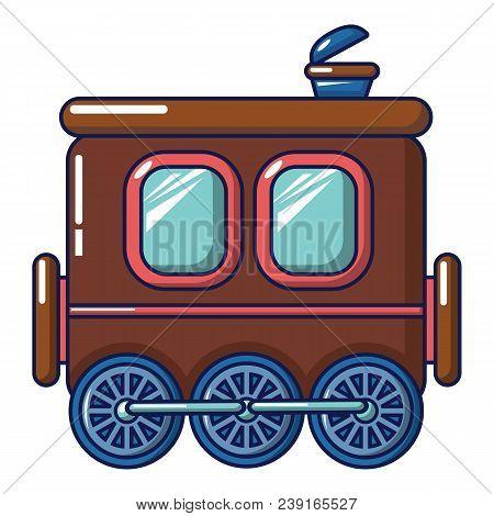 Three Wheel Wagon Icon. Cartoon Of Three Wheel Wagon Vector Icon For Web Design Isolated On White Ba